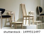 various wooden chairs made of...   Shutterstock . vector #1499511497