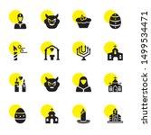 religion icons. editable 16... | Shutterstock .eps vector #1499534471