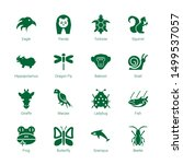 wildlife icons. editable 16... | Shutterstock .eps vector #1499537057