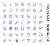 clipart icons. editable 49...   Shutterstock .eps vector #1499537087