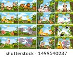 Set Of Various Animals In...