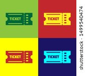color ticket icon isolated on... | Shutterstock .eps vector #1499540474