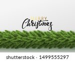 christmas background. vector... | Shutterstock .eps vector #1499555297