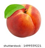 Ripe Peach Isolated On White...