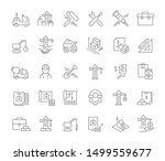 set of vector line icons of... | Shutterstock .eps vector #1499559677