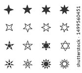 set of black and white stars... | Shutterstock .eps vector #1499560451