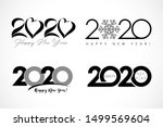 Big Set Of Logo 2020 Text...