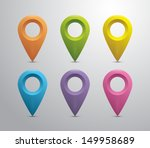 set of plastic glossy map...   Shutterstock .eps vector #149958689