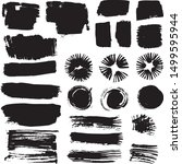 distressed ink stain spot.... | Shutterstock .eps vector #1499595944