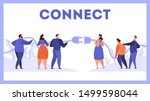 business people holding plug... | Shutterstock .eps vector #1499598044