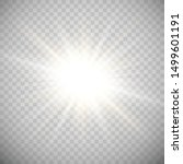 white glowing light explodes on ... | Shutterstock .eps vector #1499601191