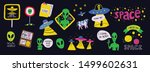 cute cosmos stickers set... | Shutterstock .eps vector #1499602631