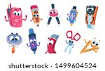school cartoon characters.... | Shutterstock .eps vector #1499604524