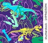 jurassic period  dinosaur... | Shutterstock .eps vector #1499605094