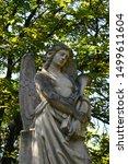 Cemetery Trumpet Angel Stone...