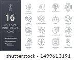 artificial intelligence line... | Shutterstock .eps vector #1499613191