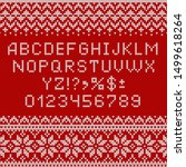 Knitting Font. Alphabet And...