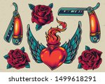 colorful flash tattoo designs... | Shutterstock .eps vector #1499618291