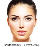 beautiful face of young woman... | Shutterstock . vector #149962961