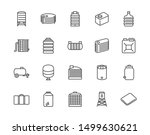 water tank flat line icons set. ... | Shutterstock .eps vector #1499630621