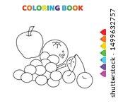 cute cartoon fruit such as... | Shutterstock .eps vector #1499632757