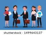group of business men and women ... | Shutterstock .eps vector #1499643137