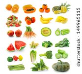 fruits  vegetables. with beta... | Shutterstock . vector #149965115