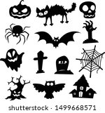 halloween icons silhouette... | Shutterstock .eps vector #1499668571