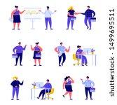 set of flat people office... | Shutterstock .eps vector #1499695511