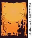 halloween background with... | Shutterstock .eps vector #1499698964
