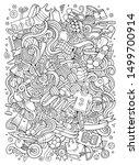 cartoon cute doodles hand drawn ... | Shutterstock . vector #1499700914