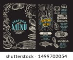 seafood menu template for... | Shutterstock .eps vector #1499702054