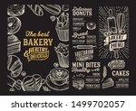 bakery menu template for... | Shutterstock .eps vector #1499702057