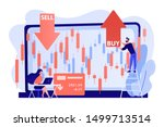 tiny people stock traders at... | Shutterstock .eps vector #1499713514