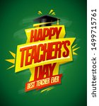 happy teacher's day card with... | Shutterstock .eps vector #1499715761