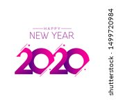 happy new year 2020 vector... | Shutterstock .eps vector #1499720984