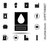 tank  oil icon . set of...