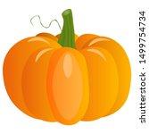 fresh pumpkin on a white... | Shutterstock .eps vector #1499754734