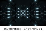 Abstract Scifi Tunnel With...