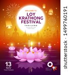 vector loy krathong festival... | Shutterstock .eps vector #1499760191