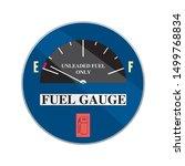 round empty gas tank... | Shutterstock .eps vector #1499768834