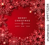 christmas background with... | Shutterstock .eps vector #1499772254