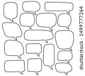 vector speech bubbles set. hand ... | Shutterstock .eps vector #1499777264
