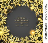 christmas background with... | Shutterstock .eps vector #1499777957