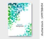 scatter triangles white modern... | Shutterstock .eps vector #1499788454