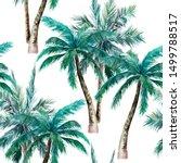 watercolor seamless pattern.... | Shutterstock . vector #1499788517