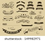 vintage sale graphic elements...