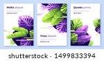 abstract tropical vector... | Shutterstock .eps vector #1499833394