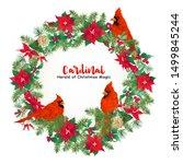 cardinal bird and christmas... | Shutterstock .eps vector #1499845244