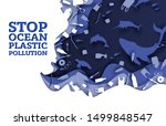 stop ocean plastic pollution ... | Shutterstock .eps vector #1499848547